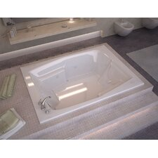 """St. Nevis Dream Suite 72"""" x 54"""" Air and Whirlpool Jetted Bathtub"""