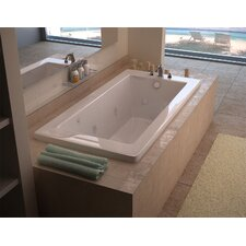 """Guadalupe 72"""" x 42"""" Air and Whirlpool Jetted Bathtub"""