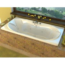 """Cayman 72"""" x 36"""" Air and Whirlpool Jetted Bathtub"""