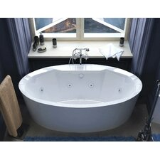 "Salina 68"" x 34"" Air and Whirlpool Water Jetted Bathtub"