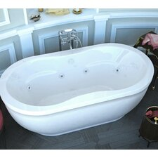 "Vivara 71"" x 34"" Air and Whirlpool Water Jetted Bathtub"