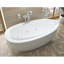 "Capricia 71"" x 38"" Whirlpool Jetted Bathtub"
