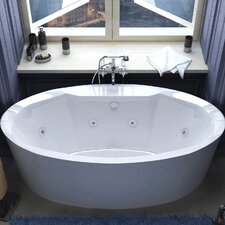 "Luxury Suite Salina 68"" x 34"" Air and Whirlpool Water Jetted Bathtub"