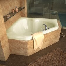 "<strong>Spa Escapes</strong> Tobago 60"" x 60"" Corner Soaking Bathtub"