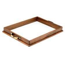 Wood and Glass Tray