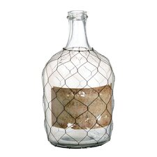 Glass and Wire Jug Vase