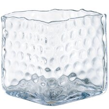 Glass Pocked Square Vase