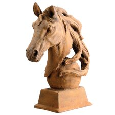 Cast Iron Horse Head Statue (Set of 2)