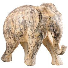 <strong>Barreveld International</strong> Wood Elephants Statue (Set of 2)
