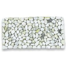 Stone Tile in Natural White (Set of 6)