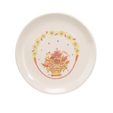 "8"" Porcelain Flower Basket Plate"