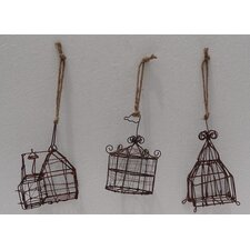 3 Piece Metal Mini Circus Tent Ornament Set