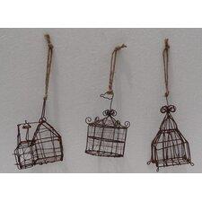 Mini Circus Tent 3 Piece Ornament Set (Set of 2)