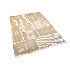 Beige Patchwork Novelty Rug