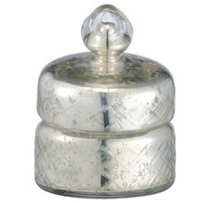Etched Jar with Lid and Wax