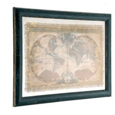 Framed Hemisphere Map