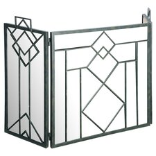 3 Panel Metal/Mirror Fireplace Screen