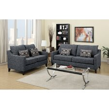 Bobkona Connell Sofa and Loveseat Set