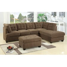 <strong>Poundex</strong> Bobkona Suede Sectional