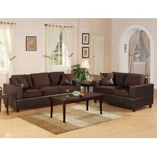 <strong>Poundex</strong> Bobkona 2 Piece Sofa and Loveseat Set