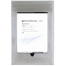 Aluminum Cast Stainless Steel iPad Wall Mount Frame with Home Button Access without Camera Hole