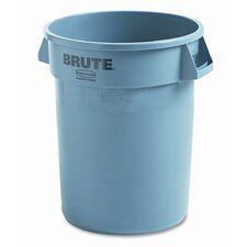 <strong>Rubbermaid Commercial Products</strong> Brute Refuse Container, Round, Plastic, 32 Gal