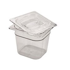 Notched Lid for 6 Space Cold Food Pan (Set of 6)