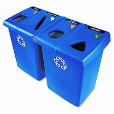Glutton 92 Gallon Multi Compartment Recycling Bin