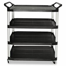 Open Sided Utility Cart, 4-Shelf