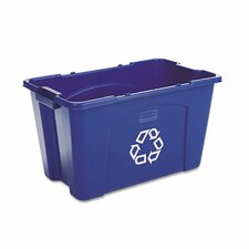 <strong>Rubbermaid Commercial Products</strong> Stacking Rectangular Recycle Bin, 18 Gal