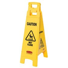 <strong>Rubbermaid Commercial Products</strong> Rubbermaid Commercial - Floor Safety Signs Floor Sign W/Caution Wetfloor Imprint4-Si: 640-6114-77-Yel - floor sign w/caution wetfloor imprint4-si