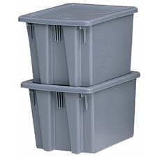 Stack & Nest Palletote Boxes 1.3Cu.Ft. Palletote Boxgray  19-1/: 640-1721-Gray - 1.3cu.ft. palletote boxgray  19-1/