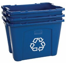 Rubbermaid Commercial - Recycling Boxes 14 Gal Recycling Box: 640-5714-73-Blue - 14 gal recycling box