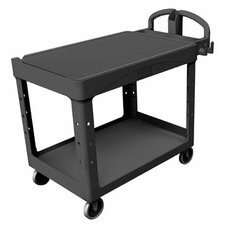 Rubbermaid Commercial - Heavy-Duty Flat Shelf Utility Carts Hd Flat 2 Shelf Utilitycart Med