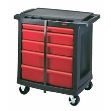 <strong>Rubbermaid Commercial Products</strong> Mobile Work Centers - 5-drawer black action packer work center
