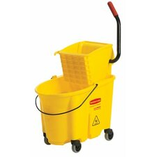 WaveBrake™ Bucket/Wringer Combination Packs - yellow mopping bucket and wringer combo pack