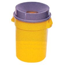 Brute® Round Containers - 32gal brute container w/o lid trash can gray