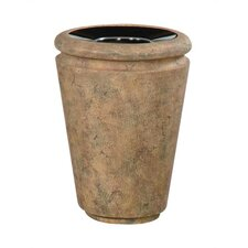 Milan 33 Gallon Tapered Receptacle with Urn