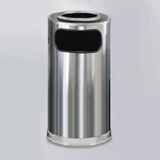 <strong>Rubbermaid Commercial Products</strong> Metallic Designer 12 Gal. Sand Top Ash/Trash Receptacle