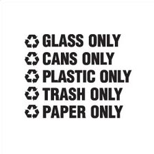 "Recyclable Waste Decals (1""H x 8""W) (Set of 200)"