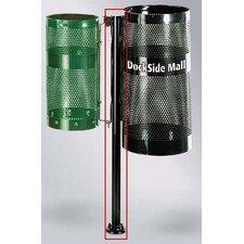 <strong>Rubbermaid Commercial Products</strong> Howard Towne Black Surface Mount Pole with Hardware