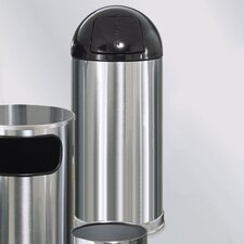 Metallic Designer 15 Gal. Round Top Waste Receptacle (Set of 3)