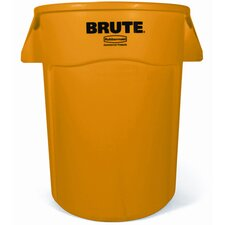 Brute Vented Trash Receptacle in Yellow