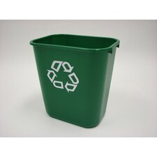 Desk Side Paper Recycling Container in Green