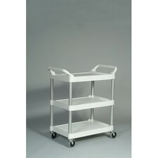 <strong>Rubbermaid Commercial Products</strong> 3-Shelf Service Cart in Off-White