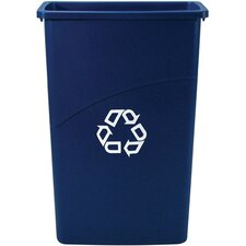 <strong>Rubbermaid Commercial Products</strong> Slim Jim Recycling Container in Blue