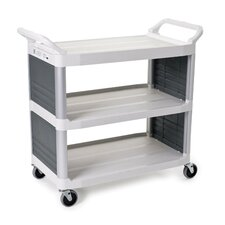 Xtra Utility Cart with 2 Shelves in Off-White