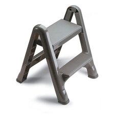 <strong>Rubbermaid Commercial Products</strong> 2-Step Folding Plastic Step Stool in Gray