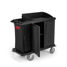 <strong>Rubbermaid Commercial Products</strong> Multi-Shelf Cleaning Cart with 3 Shelves in Black