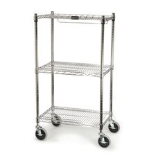 <strong>Rubbermaid Commercial Products</strong> ProSave Shelf Ingredient Bin Cart with 3 Shelves in Chrome